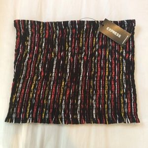 NWT News Express Colorful Stripe Tube Top Crop Top